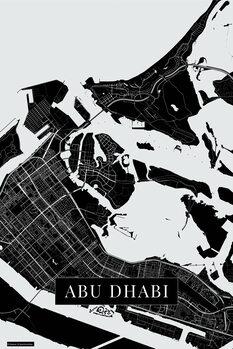 Mapa Abu Dhabi black