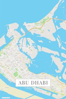 Map Abu Dhabi color