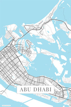 Map Abu Dhabi white