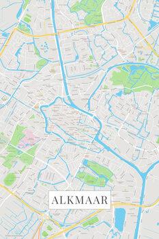Mapa Alkmaar color