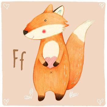 Illustration Alphabet - Fox