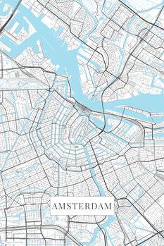 Map Amsterdam white