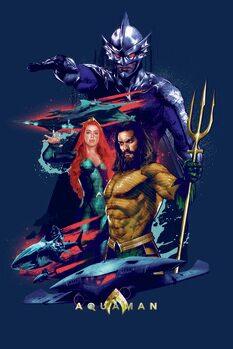 Impressão de arte Aquaman - Dark