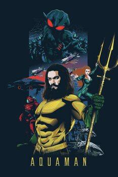 Impressão de arte Aquaman - Herói do mar