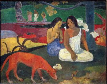 Reprodução do quadro Arearea (Joyeusetes) or The Red Dog