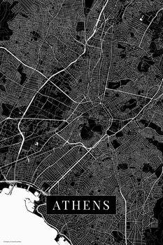 Map Athens black