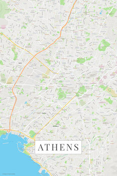 Map Athens color