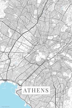 Map Athens white