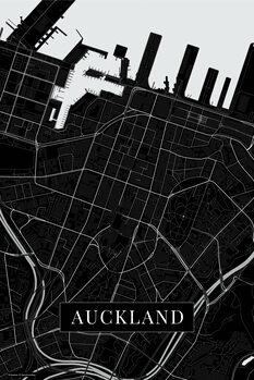 Map Auckland black