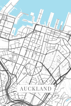 Map Auckland white