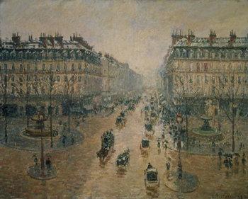 Reprodução do quadro Avenue de L'Opera, Paris, 1898