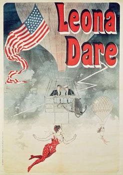 Taidejuliste Ballooning: `Leona Dare' poster, 1890