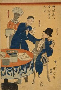 Fine Art Print Banquet at a foreign mercantile house in Yokohama