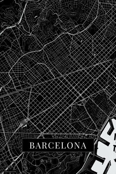 Map Barcelona black