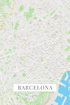 Map Barcelona color