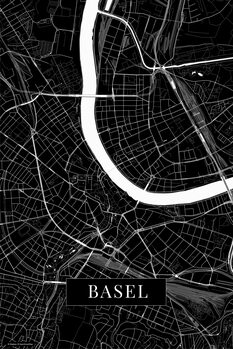 Map Basel black