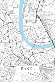 Map Basel white