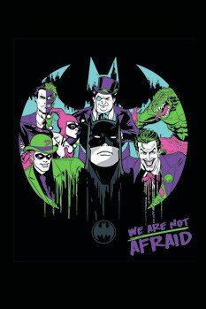 Impressão de arte Batman and his enemies