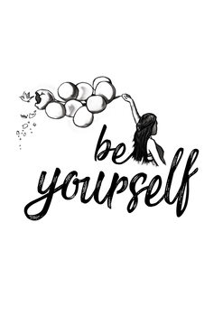 Illustration Be yourself - White