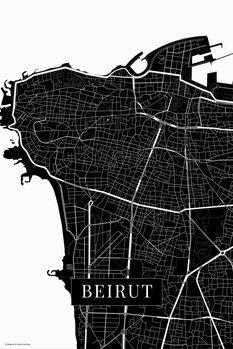 Map Beirut black