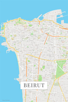 Map Beirut color