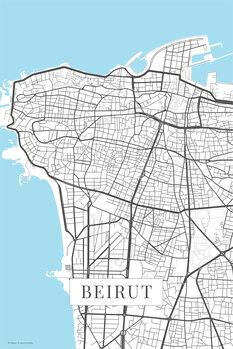 Map Beirut white