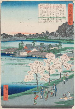 Fine Art Print Benten Shrine on Shinobazu Pond , 19th century