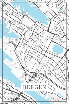 Map Bergen white