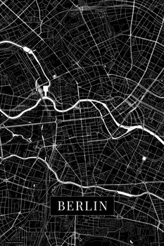 Map Berlin black