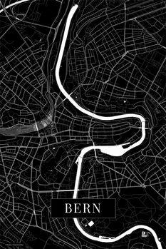 Map Bern black