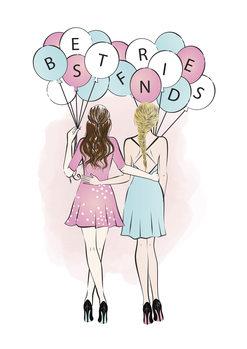 Ilustração Best Friends