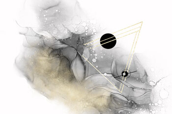 Ilustração Beyond all galaxies no 2 | alcohol ink