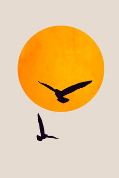 Illustration Birds In The Sky