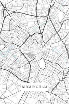 Map Birmingham white