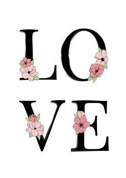 Illustration Black love