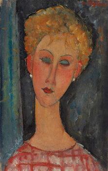 Fine Art Print Blonde Woman with Curly Hair; La blonde aux boucles d'oreille