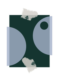 Illustration Blue & Green