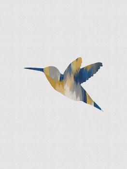 Ilustração Blue & Yellow Hummingbird I