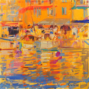 Fine Art Print Boats in Harbour, Saint-Tropez