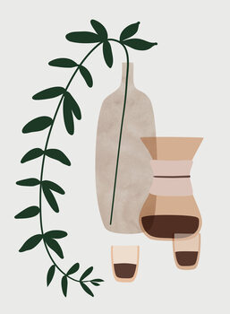 Illustration Boho coffee for two