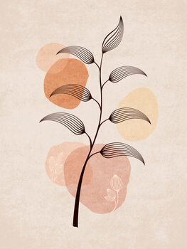 Illustration Boho Leaves 02