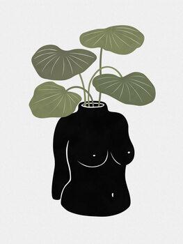 Illustration Boob-tanical Vase
