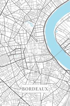 Map Bordeaux white