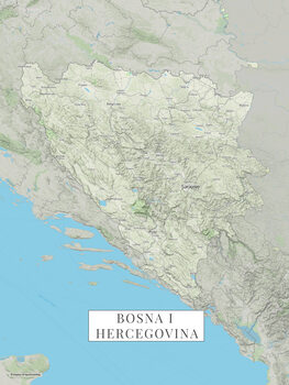 Map Bosnia i Hercegovina color