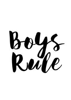 Illustration Boys rule