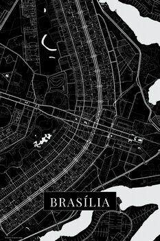 Map Brasilia black