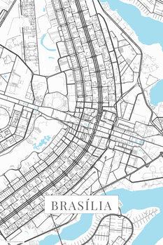 Map Brasilia white