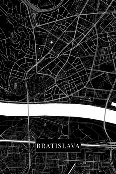Map Bratislava black