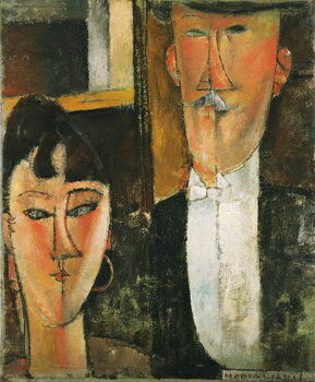 Fine Art Print Bride and Groom - Peinture de Amedeo Modigliani