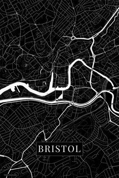 Map Bristol black